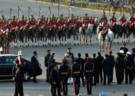 The President, Shri Ram Nath Kovind and the Prime Minister, Shri Narendra Modi at the 'Beating Retreat' ceremony, at Vijay Chowk, in New Delhi on January 29, 2018.